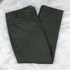 Army Green New York & Company Ankle Pants